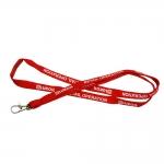 Smycz sznurówkowa z barwioną złączką bezpieczeństwa
